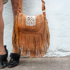 The Heather cowhide Satchel Tan