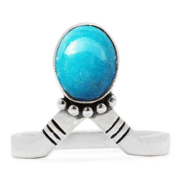 The Crowne Ring - Turquoise