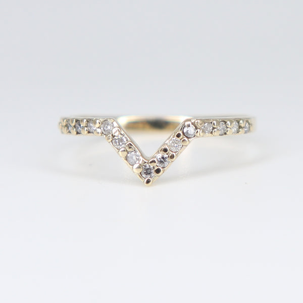 BABY NOVA YELLOW GOLD DIAMOND PAVÈ RING