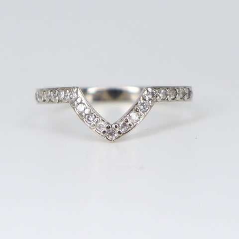 Baby nova white gold diamond pavè ring