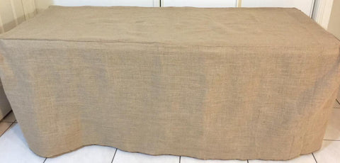 6ft Hessian Table Cover
