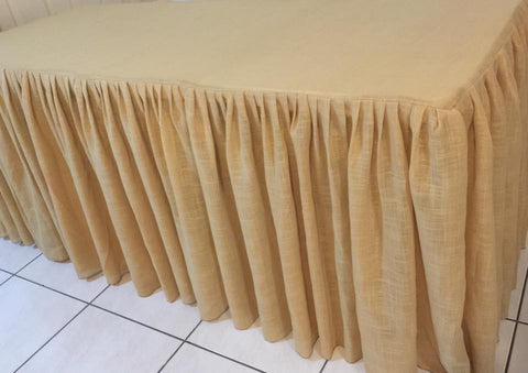 Hessian Gathered Tablecloth