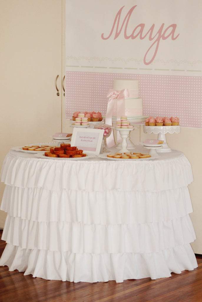 Ruffled Round Tablecloth