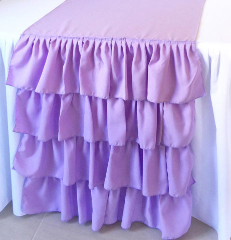 Lavender Ruffled Table Runner