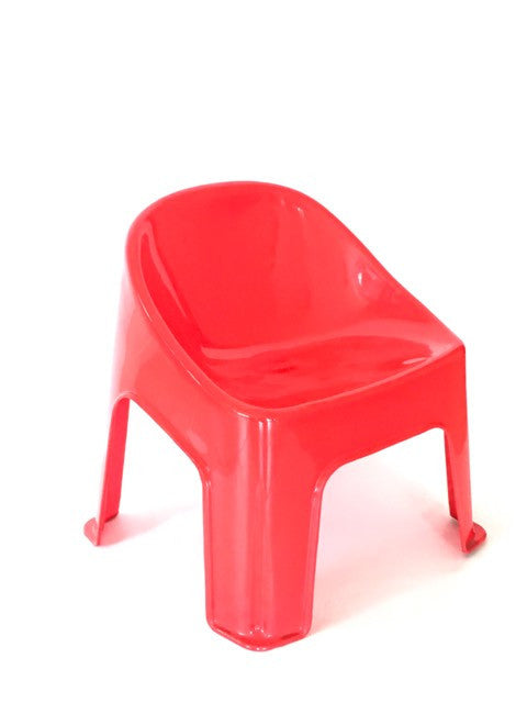Red bubble chairs