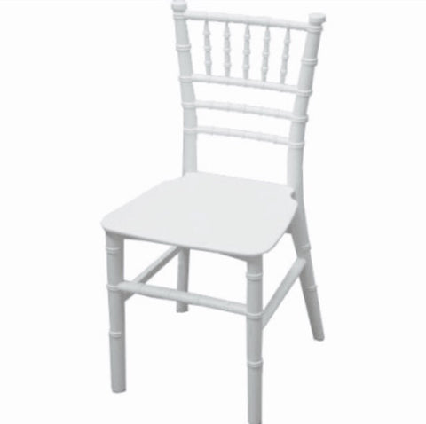 White Tiffany Kids Size Chair
