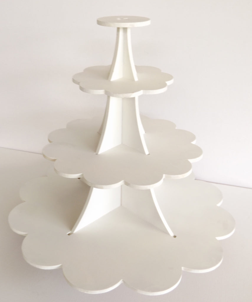 White Wooden Cupcake Stand