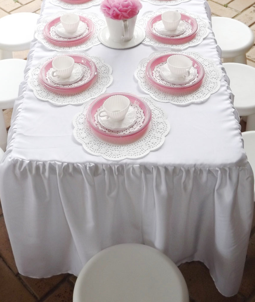 Gathered Tablecloth for Children's Size Table