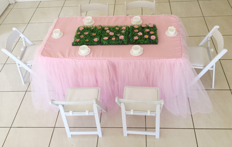 Tablecloths for children sized tables