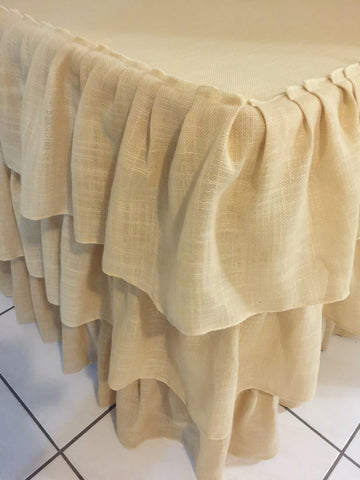 Hessian Ruffled Tablecloth
