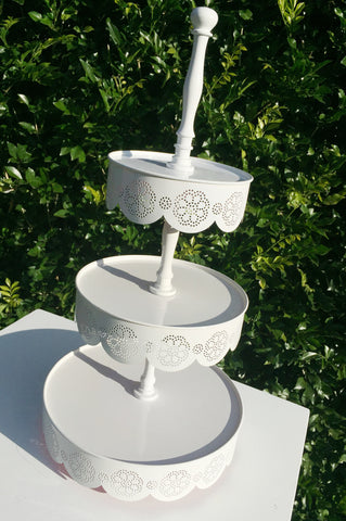 White Lace Cupcake/Afternoon Tea Stand