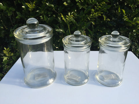 Medium Glass Canisters