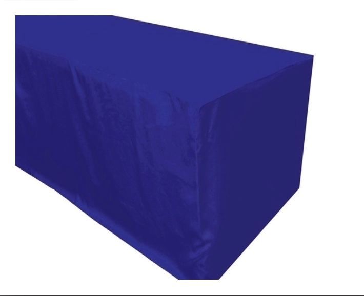 6ft Royal Blue Fitted Tablecloth