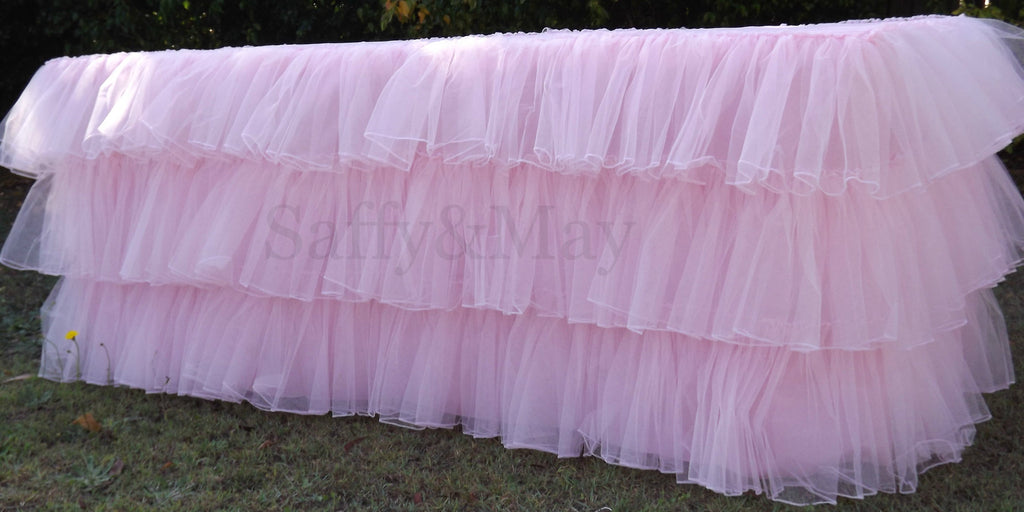 Tulle Ruffled Tablecloth