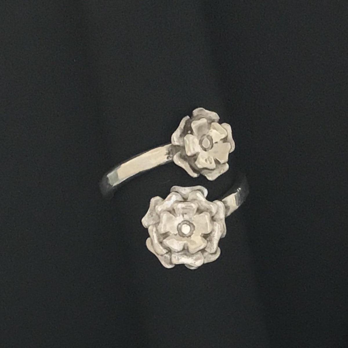 Vintage Floral Bypass Ring