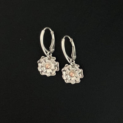 14K & .935 Flower Blossom Earrings