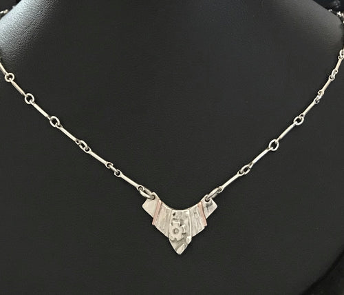 Art Deco Inspired Pendant Necklace 16""