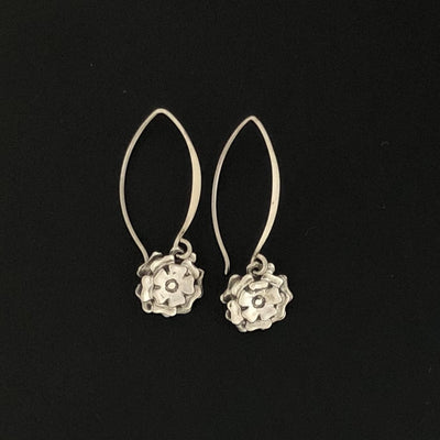 Flower Blossom Drop Earrings
