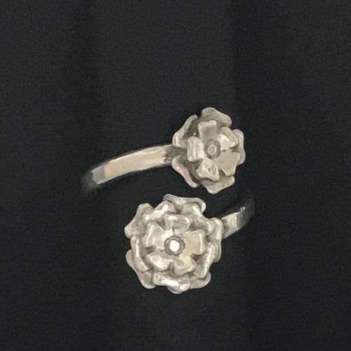 Floral Blossom Bypass Ring