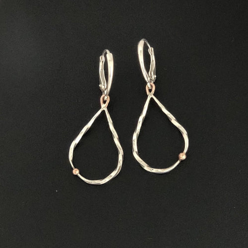 14K & .935 Twisted Teardrop Earrings