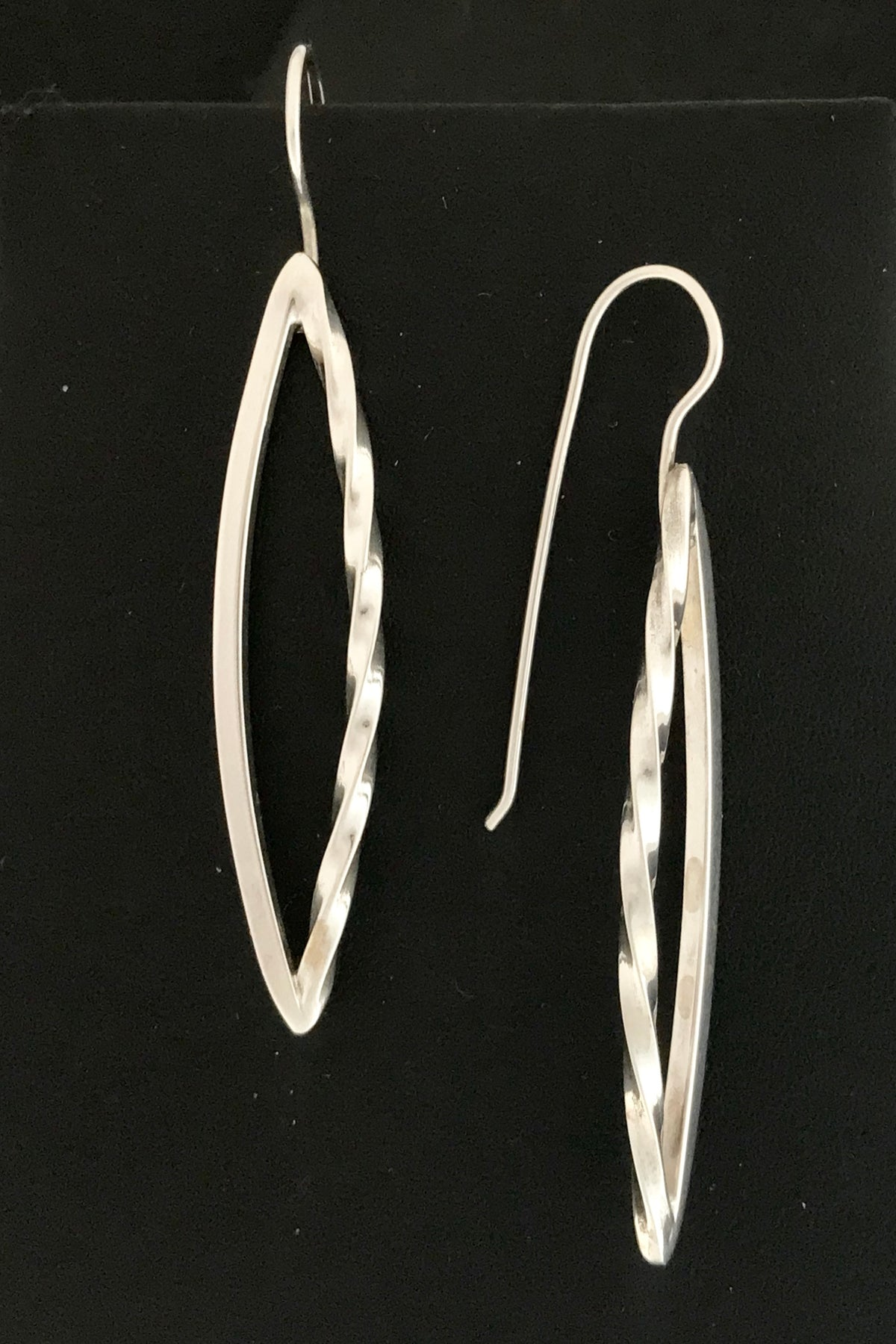 Silver Sculpture Earrings