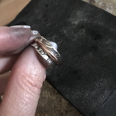 Halo Rotating Band Ring NEW! Solid 14K Rose Gold Rotating Band