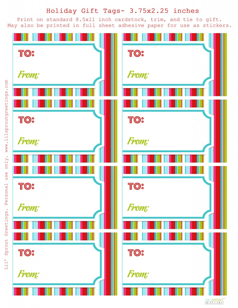 Free Printable Rainbow Gift Tags – Lil' Sprout Greetings