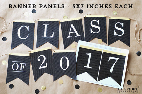 free graduation printable banner class of 2017