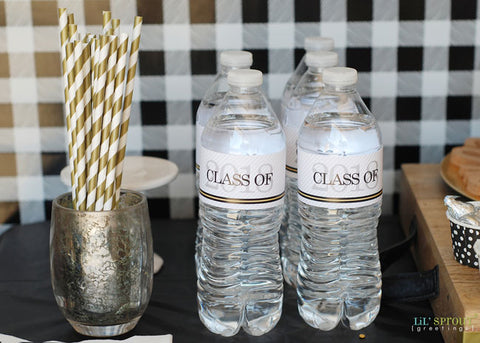 Class of 2018 Free Printable Water Bottle Labels by Lil' Sprout Greetings