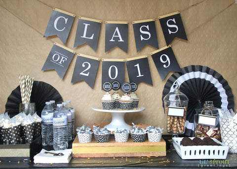 photograph about Printable Graduation Decorations named Free of charge Cl of 2019 Commencement Celebration Printables Lil Sprout