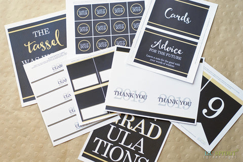 photograph relating to Free Graduation Printable named Cost-free Cl of 2019 Commencement Get together Printables Lil Sprout