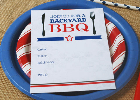 free cookout barbecue printable invitation