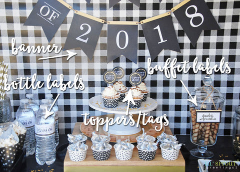 Free Class of 2018 Printable Graduation Decor by Lil' Sprout Greetings