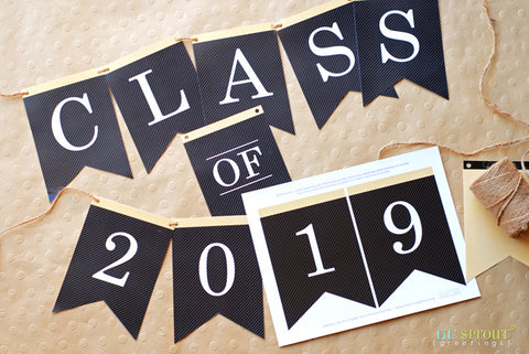 picture relating to Free Printable Graduation Advice Cards known as Totally free Cl of 2019 Commencement Occasion Printables Lil Sprout