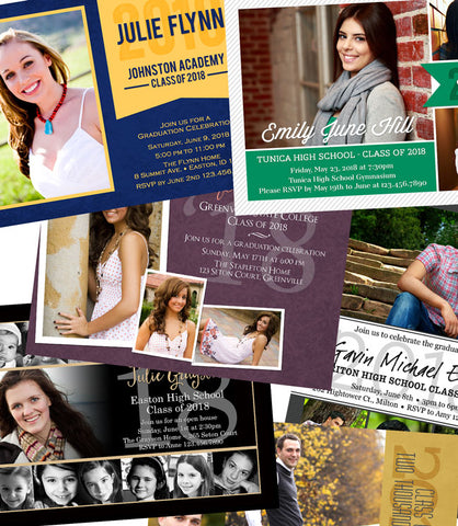 Class of 2018 Printable Graduation Announcements & Invitations by Lil' Sprout Greetings