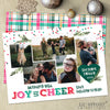 joy and cheer colorful bright printable christmas card