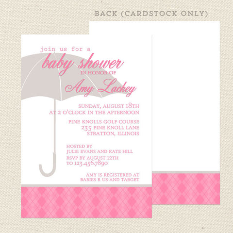 sprinkle girl baby shower invitation pink