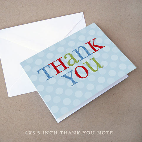 shabby boy baby shower thank you note