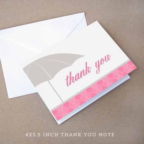 sprinkle girl baby shower thank you note
