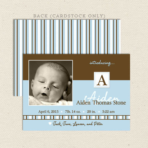 aiden boy birth announcements
