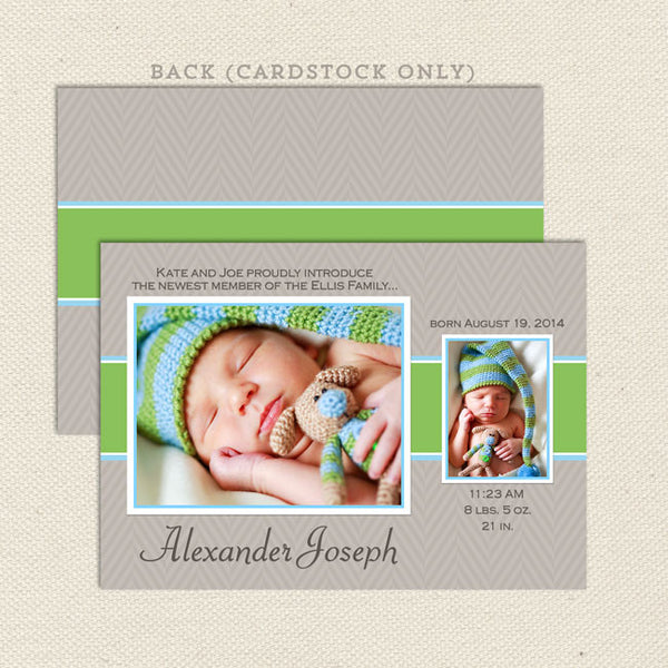 alexander boy birth announcement