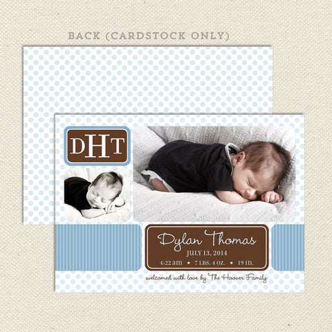 dylan boy birth announcement