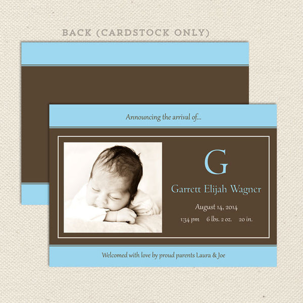 garrett boy birth announcement