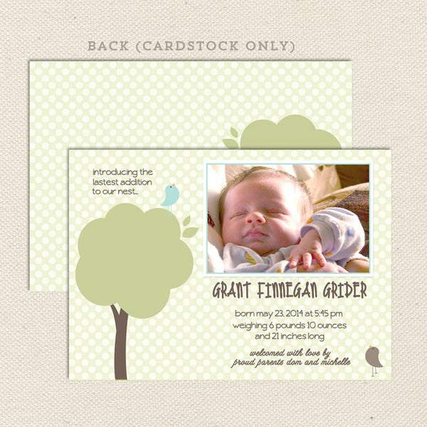 grant boy birth announcement