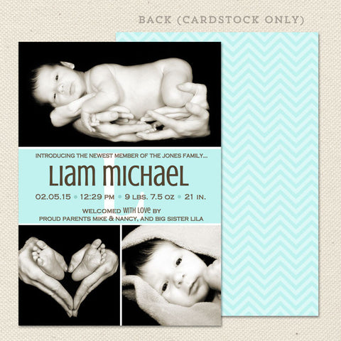 liam boy birth announcement