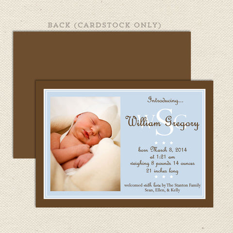 william boy birth announcement