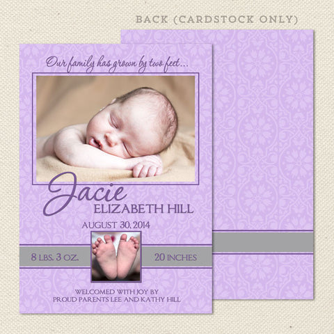 jacie girl birth announcement