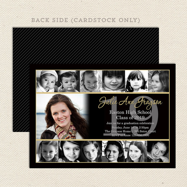 12 Photo Collage Graduation Announcements Lil Sprout Greetings