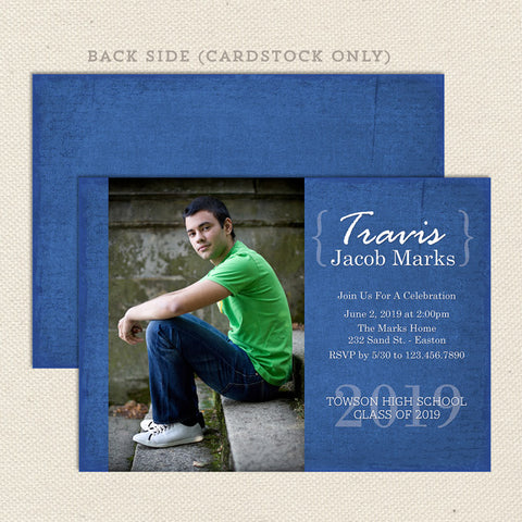 celebrate graduation announcement boy
