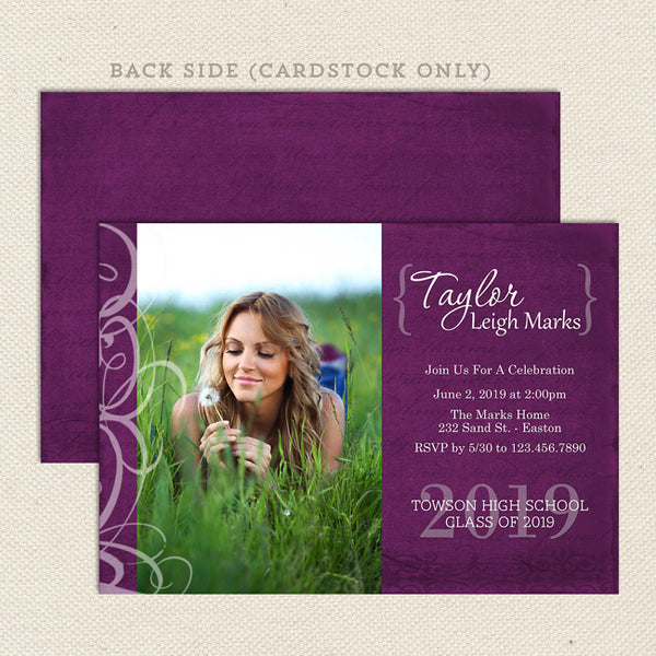 celebrate graduation announcement girl